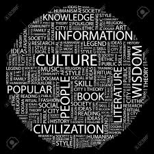 lots of words in white on a black background relating to arts culture information etc