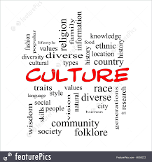 different words and fonts relating to arts and culture