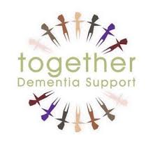 images of circle of people with wods 'together dementia suport'