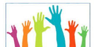 hands reaching upwards