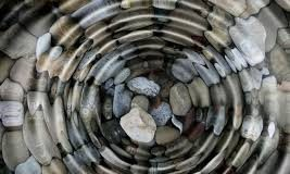 image of pebbles in a pond