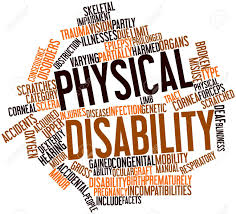 image of different fonts and words depicting disability