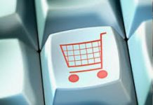 Image of Shopping Trolley on Keyboard