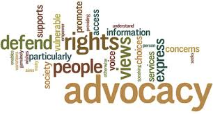 many differnet words relating to advocacy