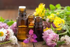 image of herbal oils and clowers