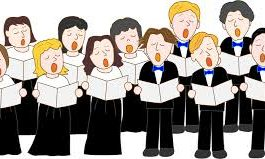 cartoon image of choir