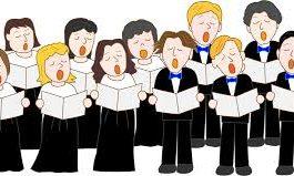 cartoon image of choir