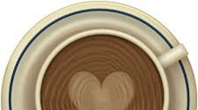 cup of coffee with heart shape