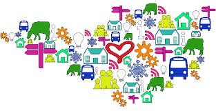 cartoon image of community