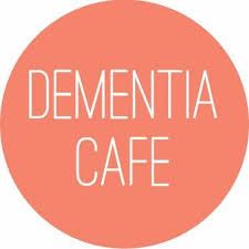 image of a sign stating dementia cafe