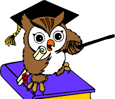 image of cartoon owl with mortar board and book