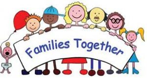 cartoon image of families smiling