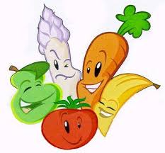 cartoon images of vegetables