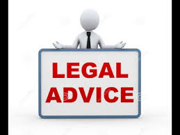 cartoon image of poster stating Legal Advice