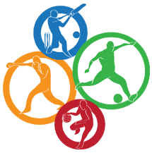 cartoon image of people playing sports
