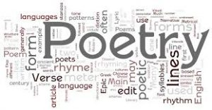 image of different words relating to poetry