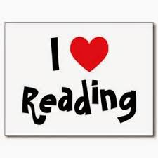 image of a heart depicting I love reading