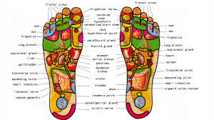medical poster relating to reflexology of the feet