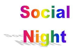 poster stating social night