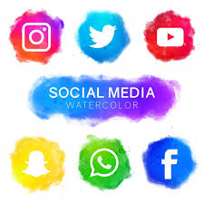 image of icons related to social media