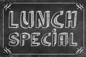 chalk board advertising special lunches