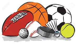 cartoon image of various balls usedin sport