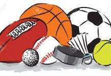 cartoon image of different balls used in sports