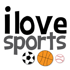 poster saying 'I love sports'