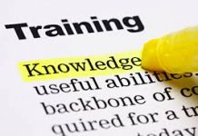 different words relating to training
