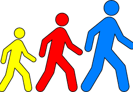 images of cartoons walking