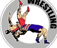 cartoon image of wrestling competition