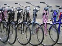 photo of five bicycles close together