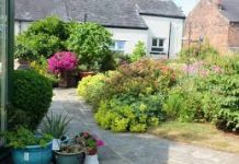 photograph of Crooke Village garden