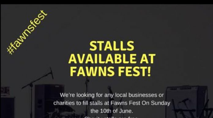 poster aksing for people to take stalls at the festival