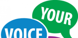 speech bubbles stating Your Voice Matters