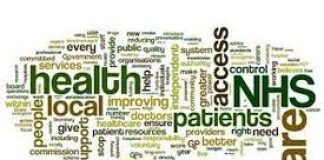 lots of words in different sizes and fonts depciting health and social care