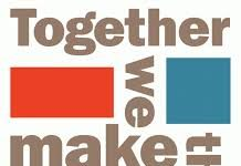 words and blocks saying together we can make a difference