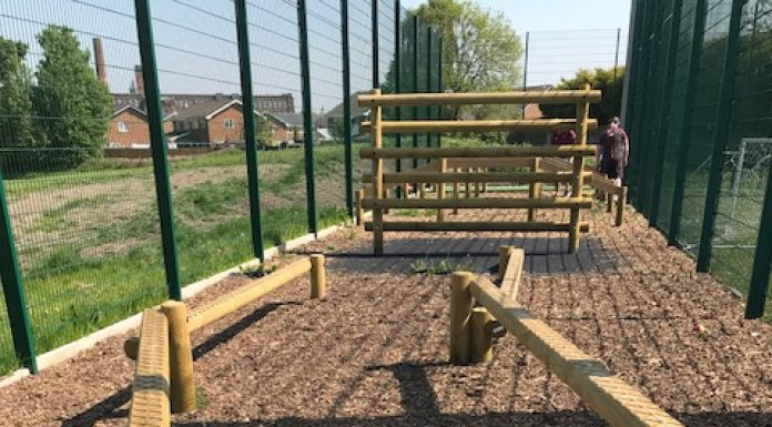 photo of part of the assault course