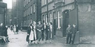 sepia photo of life in Wigan ilast century