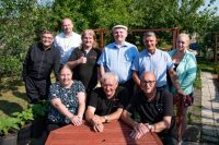 photo of members of Balcarres Allotments
