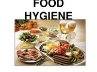 image of plates of food and the words food hygiene