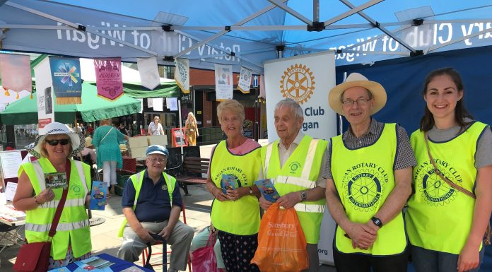 photo of members of Wigan Rotary at the 2018 Community Day