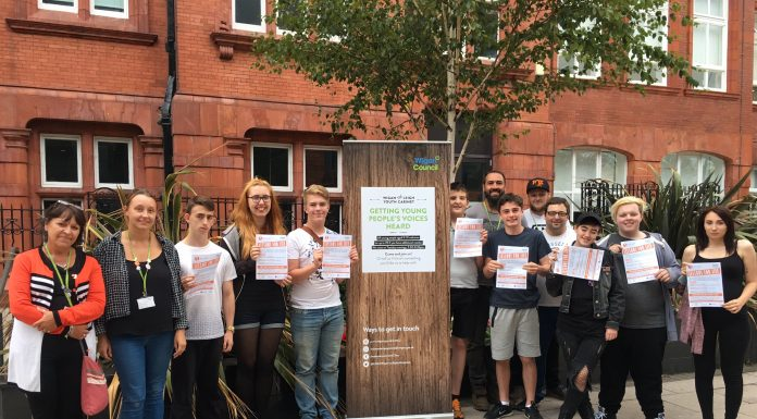 Some of the members of Wigan and Leigh Youth Cabinet