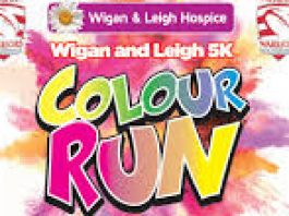 Wigan and Leigh 5K Colour Run logo