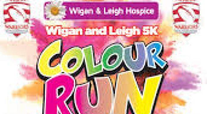 Wigan and Leigh 5K Colour Run logo