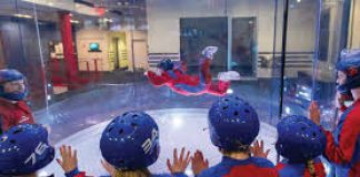 photo of person in IFly wind tunnel