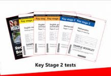 image with key stage two test papers