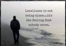 image relating to lonliness