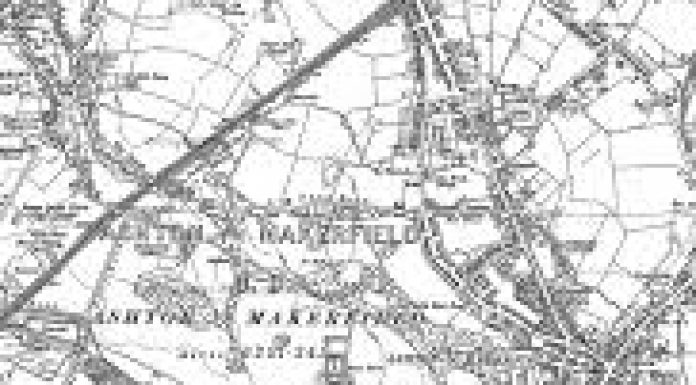 black and white map of ashton in makerfield