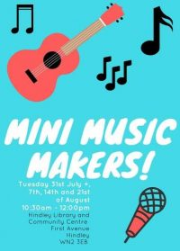 colourful poster advertising music event